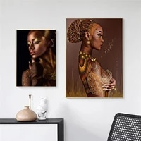 black and gold woman canvas paintings sexy nude african posters prints wall art pictures for living room wall decoration cuadros