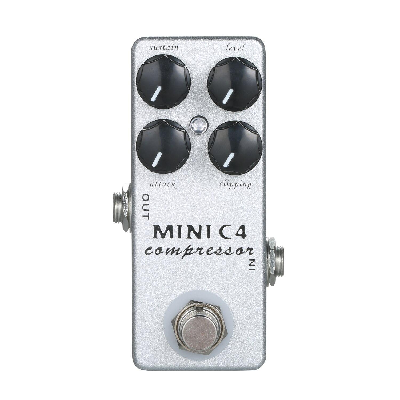 MOSKY MINI C4 ضاغط تأثير الغيتار دواسة مع صحيح الالتفافية ل الغيتار الكهربائي باس تأثير دواسة أجزاء و اكسسوارات