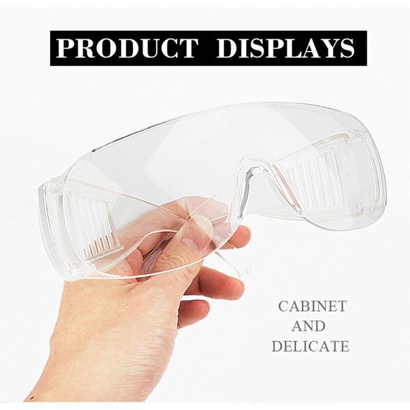 Защитные очки, персональное защитное оборудование, прозрачные Противоударные Защитные очки с отверстиями