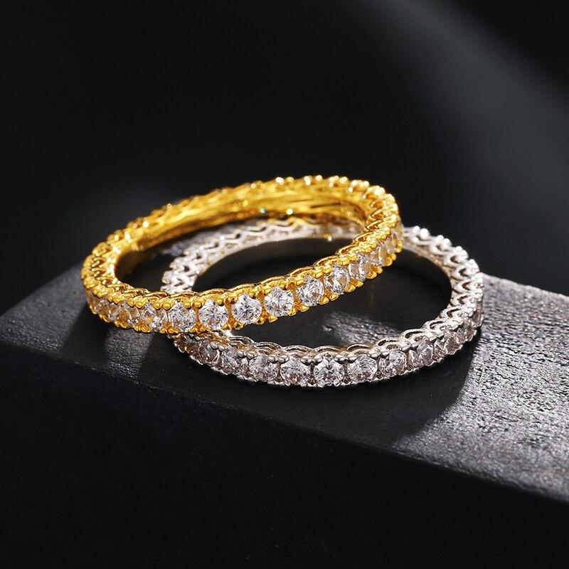 Classic Men Moissanite Rings Gold Top Quality 100% 925 Sterling Silver For Women Moissanite Ring 14k Jewelry For Wedding Gift