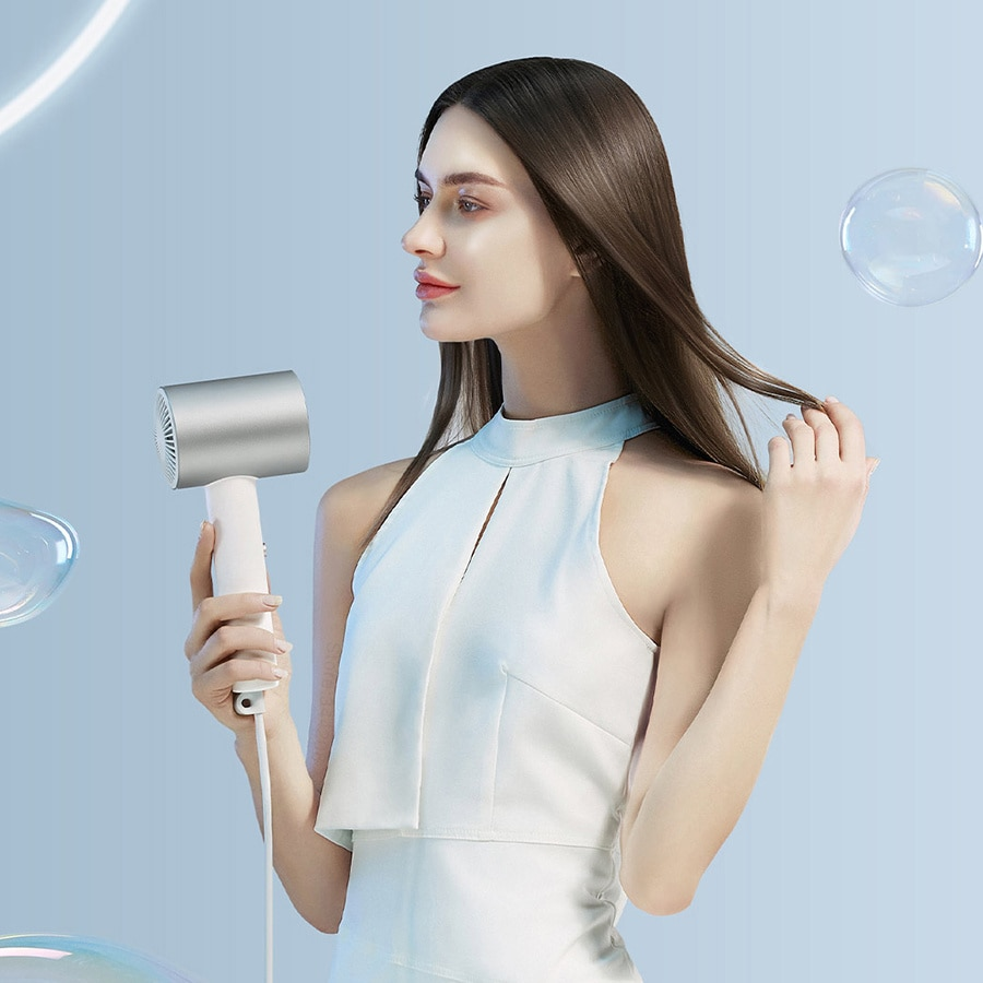 Water Ion Hair Dryer H5001800w, Intelligent Temperature Control, Nano, Professional Hair Care Diffuser enlarge