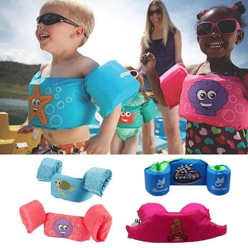 Baby Swim Toddler Float Swimming Ring Pool Infant Kid Life Jacket Buoyancy Vest 2-7Y