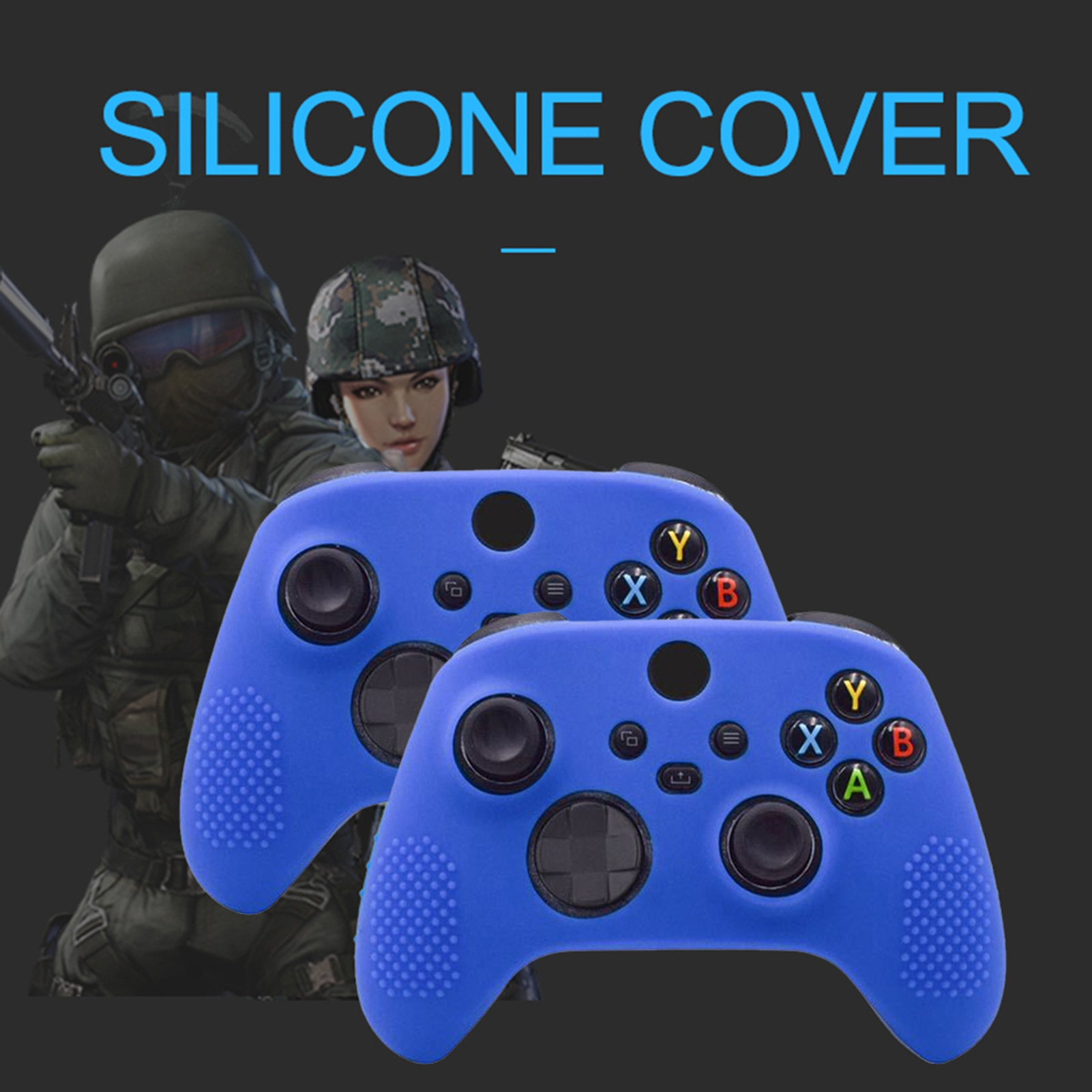 Studded Anti-Slip Silicone Cover Skin Set For Xbox One S/Xbox One X Controller Game Console Accessories