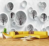 xuesu fashion black and white abstract tree 3d tv background wall custom wallpaper simple wall covering