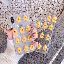Mignon 3D étoile canard fleur Fundas pour Iphone Xs Max étui Bling Drop colle couverture arrière pour Iphone 8 7 6 6s Plus X Xr Etui étui amortisseur