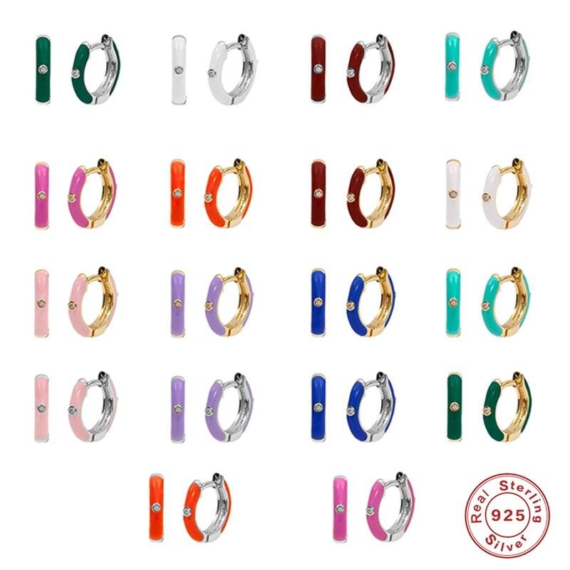 aide-модный-925-Стерлинговое-Серебро-Золото-модные-розового-и-фиолетового-цветов-белая-Роза-броши-с-красной-эмалью-в-виде-серьги-в-виде-колец-о