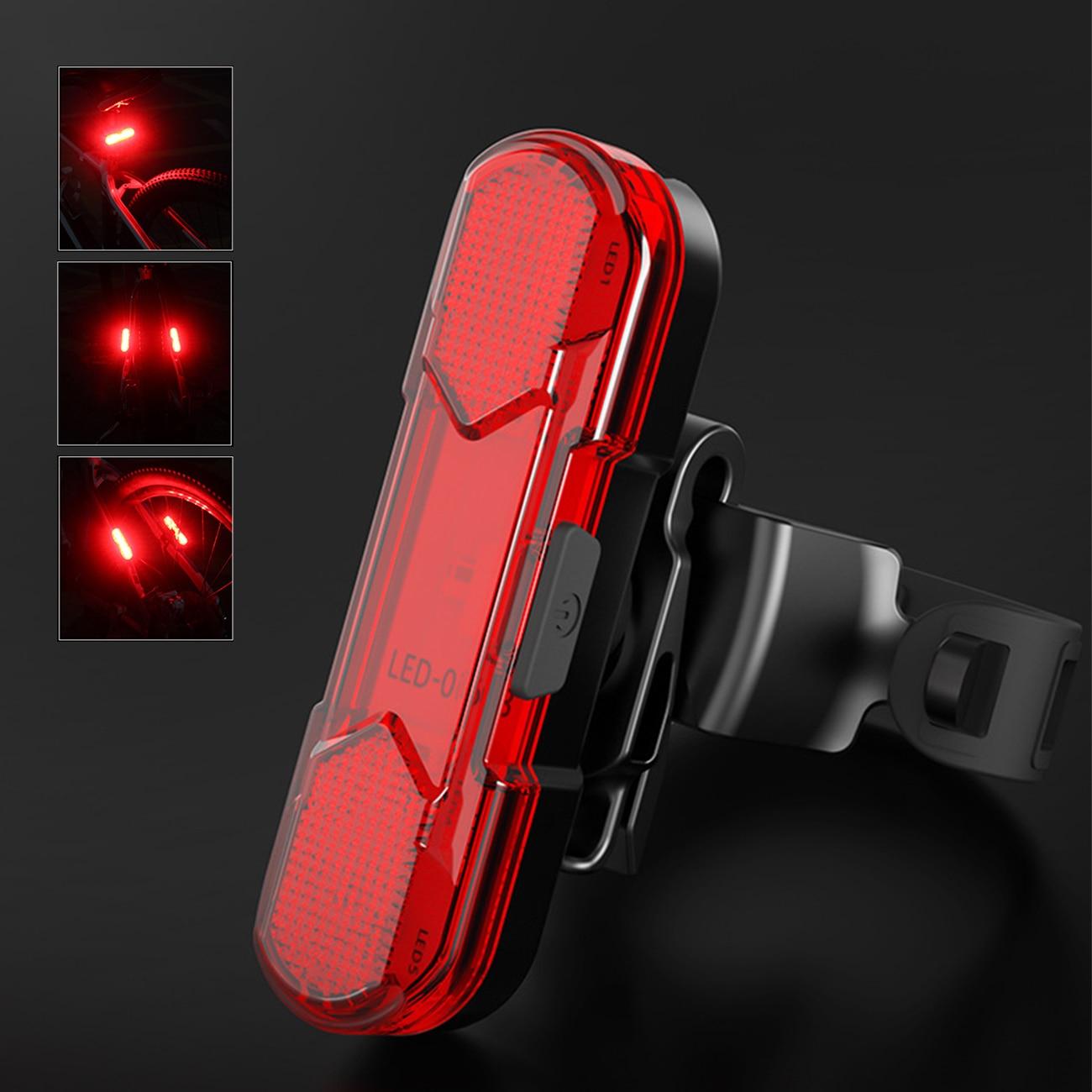 LED Warning Lights Night Bike Rear Light MTB Bike Equipment Bicycle USB Charging Shine Smart Auto Br