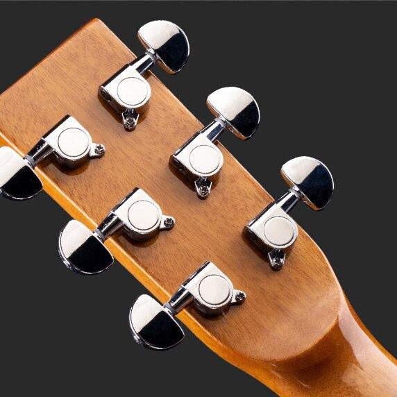 Slide Vintage Guitar Acoustic Travel Semi Hollow Professional Guitar High Quality Guitarra Acustica Musical Instruments DE50JT enlarge