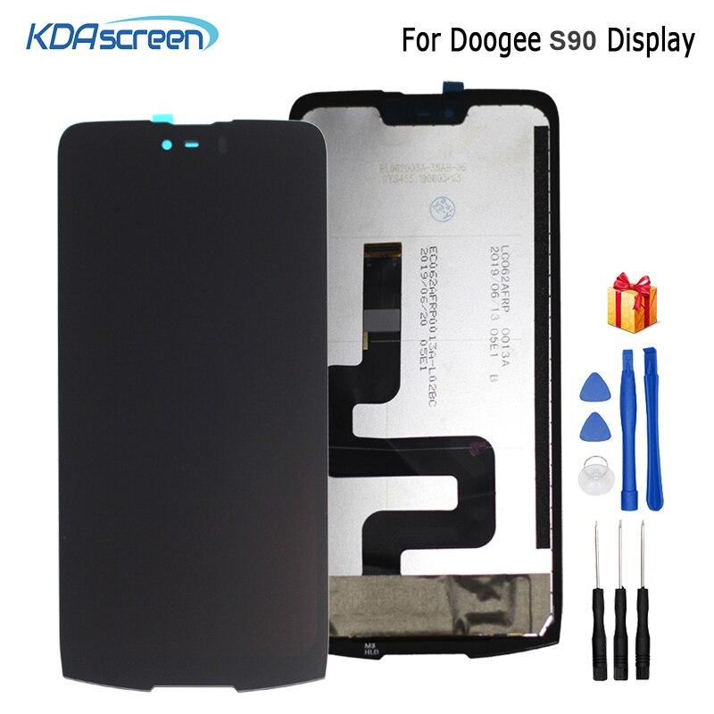 الأصلي ل Doogee S90 شاشة الكريستال السائل محول الأرقام بشاشة تعمل بلمس استبدال إصلاح أجزاء ل Doogee s90 شاشة عرض LCD شاشة الكريستال السائل