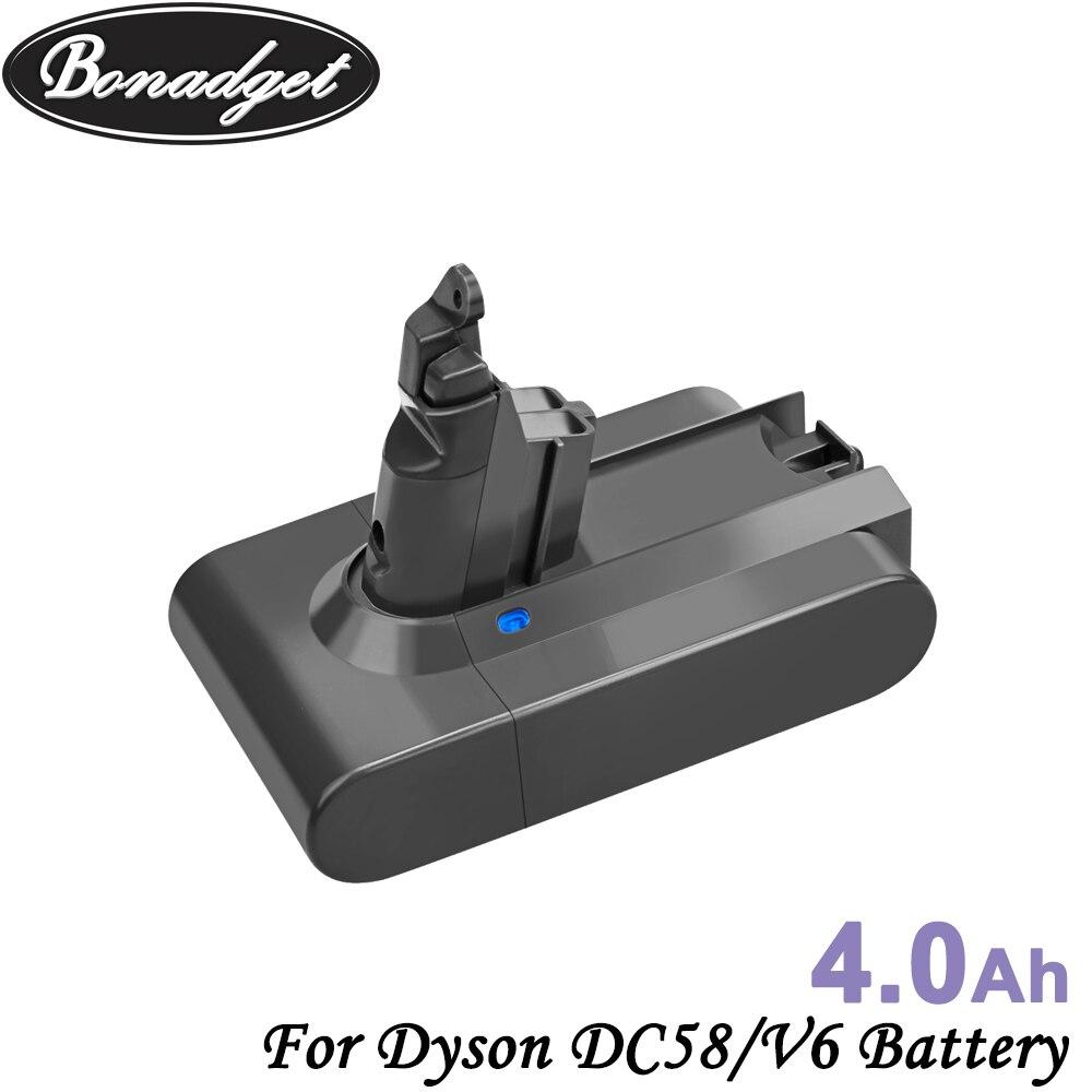 Bonadget 21.6V 4000mAh Li-ion DC58 V6 18650 Batterie rechargeable Pour Dyson V6 DC58 DC59 DC61 DC62 DC72 DC74 Batterie Pour Outils Électriques