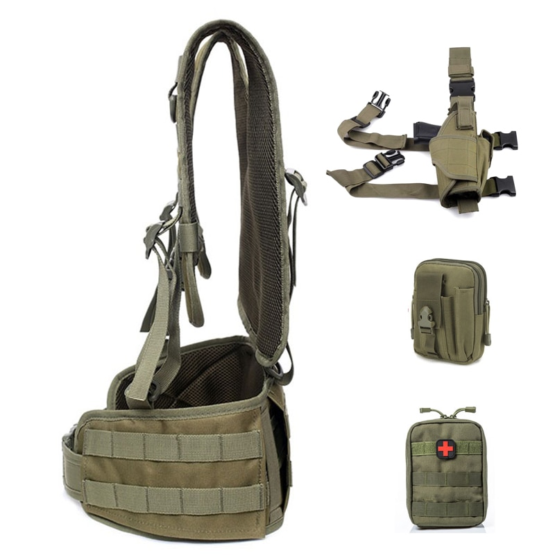 Army Tactical Vest Military Molle Combat Girdle Molle Pack Bag Carrier Airsoft Removable Belt Waistcoat CS Wargame Hunting Gear недорого