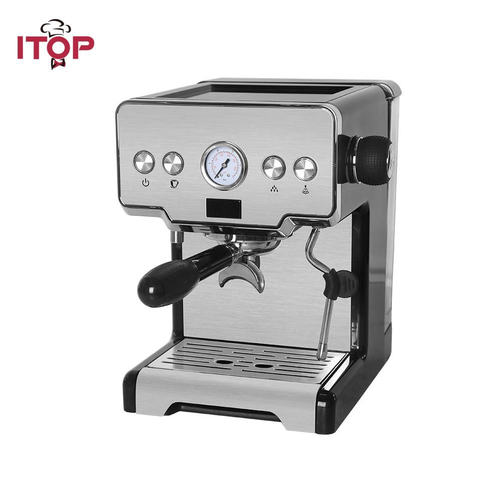 ITOP 15 Bar Italian Semi-Automatic Coffee Maker Cappuccino Milk Bubble Espresso Machine for Home Latte IT-CRM3605