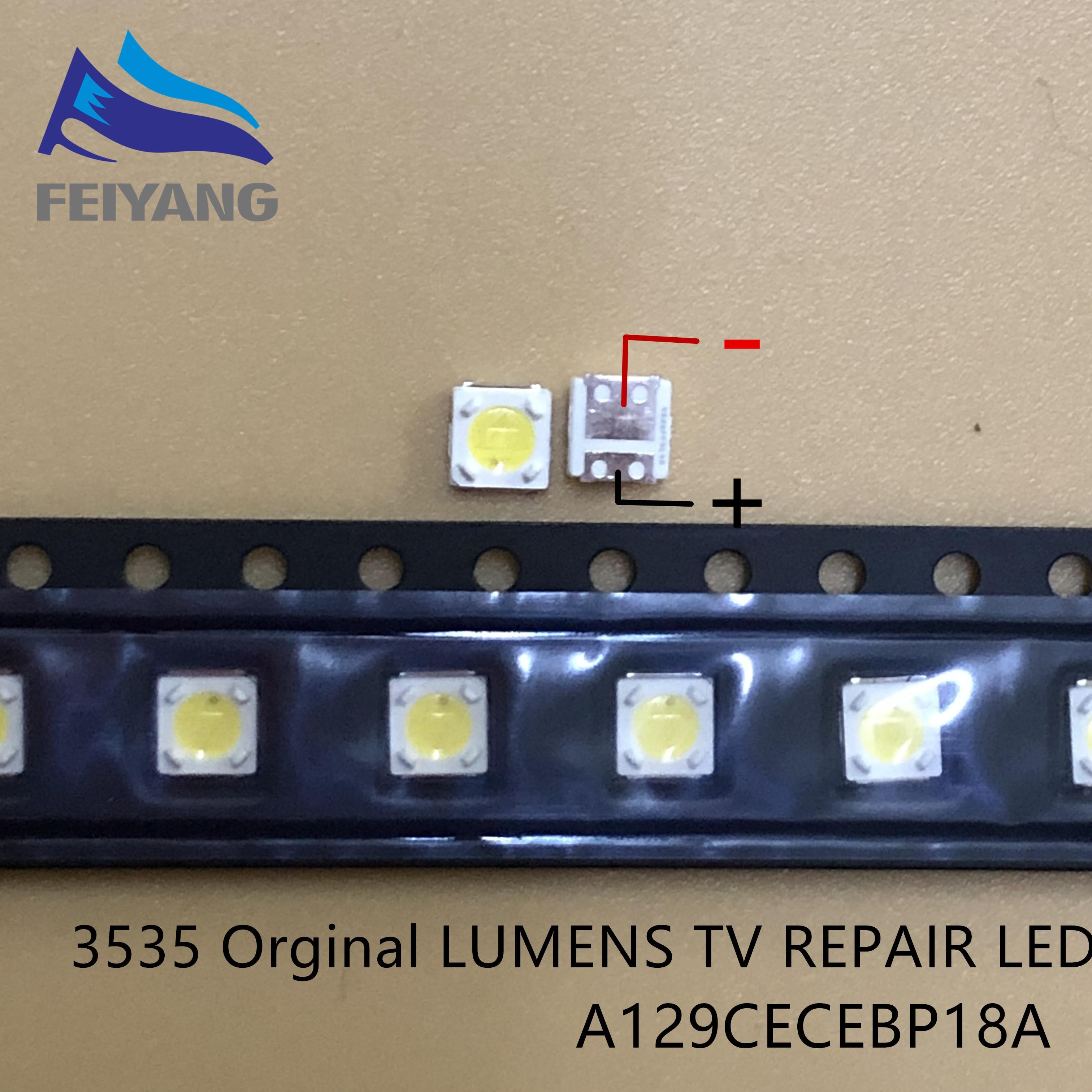 50 Uds retroiluminación de LED de lúmenes 1W 3V 3535, 3537 blanco iluminación LCD trasera para TV aplicación de TV A129CECEBP18A-2092 4JIAO