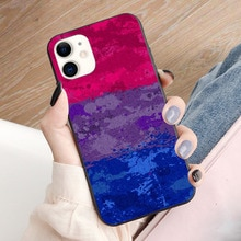 Biseksuele Verf Ploetert Vlag Zachte Tpu Grens Telefoon Case Voor Iphone 11PRO 11Promax 11 X Xs Xr Xsmax 6 plus 7 7Plus 8 8Plus Cover