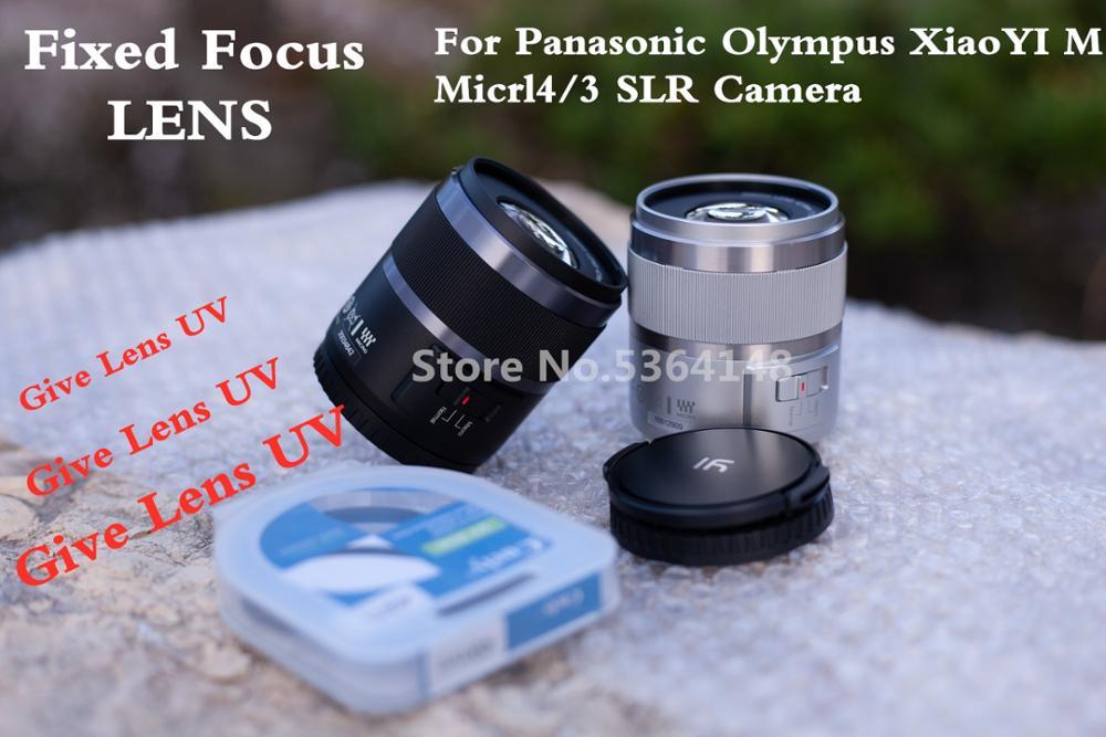 Neue 42,5mm F1.8 feste linse Für XiaoYI M1 für Panasonic GF6 GF7 GF8 GF9 GF10 GX85 G85 Für Olympus e-PL9 E-M5Mark II E-M10 Mark II