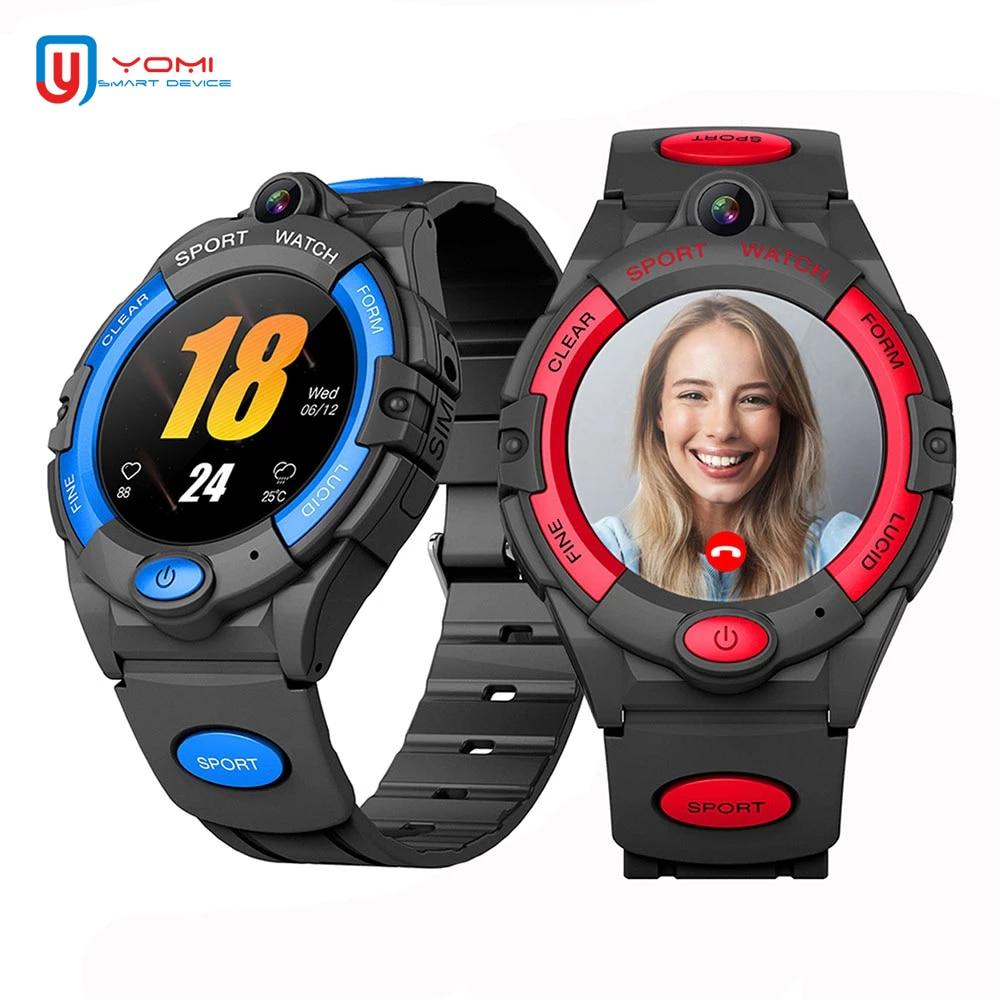 Relógio do Bebê Monitor de Pressão Inteligente Homem Freqüência Cardíaca Arterial Gps Wi-fi Tracker Câmera Monitor Remoto Chamada Sos Telefone Smartver 4g Sim