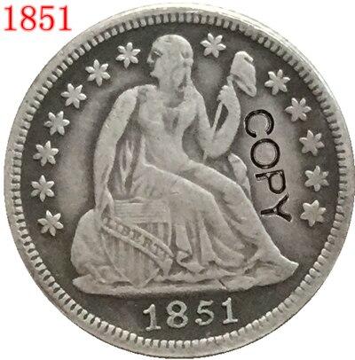 USA 1851 P,O  Seated Liberty Dime COPY COINS