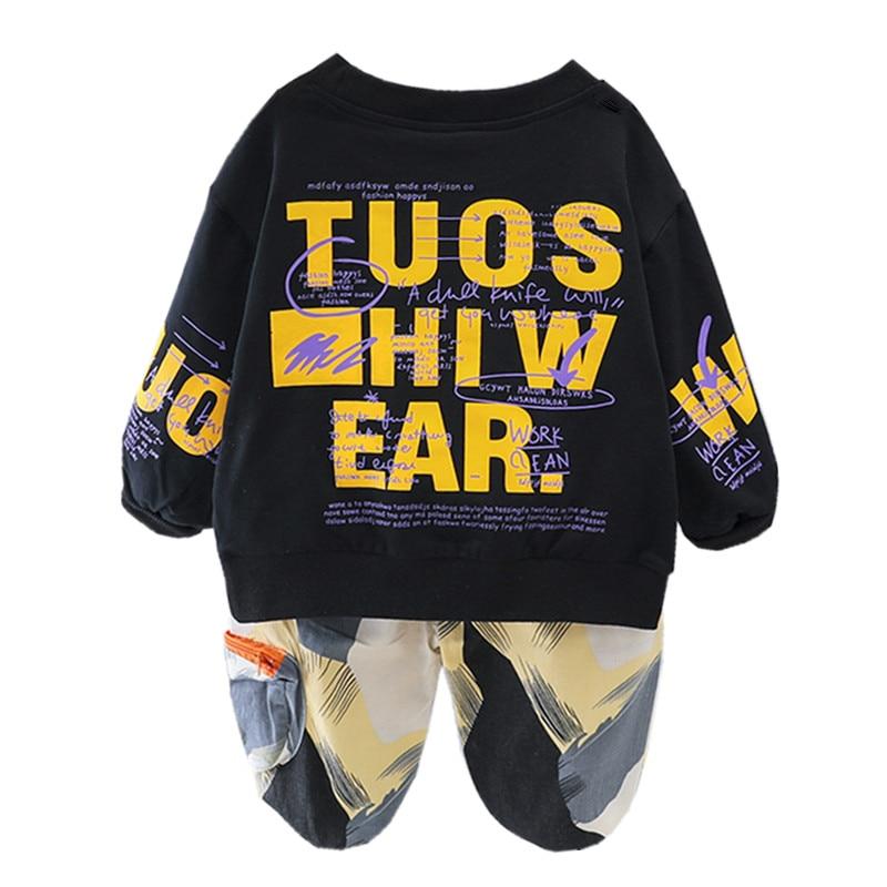 Toddler Baby Boys Clothes Set Autumn Kids Sweatshirt + Pants 2pcs Outfits Children Clothing Suit For
