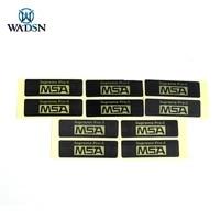 wadsn 5set pack airsoft sordin headset msa sticker 4313mm shooting headphone supreme pro x msa stickers for hi threat tier