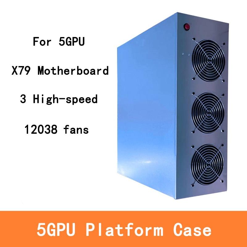 Для X79 материнская плата 5 GPU чехол для сервера с 3 вентиляторами рамка для майнинга платформа для домов для X79 материнская плата BTC ETH