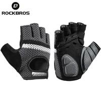 rockbros women mens cycling gloves fitness breatahble sbr shockproof fingerless gloves moto mtb bike gloves bicycle accessories