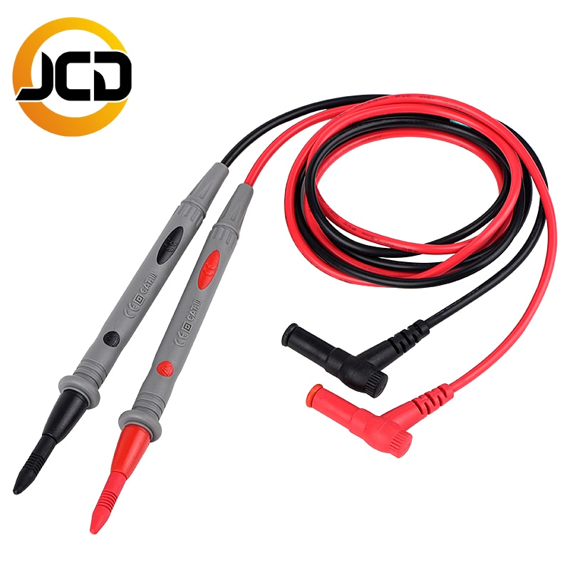 JCD Universal Probe Test Leads Pin for Digital Multimeter Needle Tip Meter Multi Meter Tester Lead Probe Wire Pen Cable 20A недорого