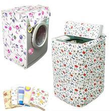1 adet önden doldurmalı çamaşır makinesi PVC kapak su geçirmez kasa çamaşır makinesi kumaş ceket rastgele renk