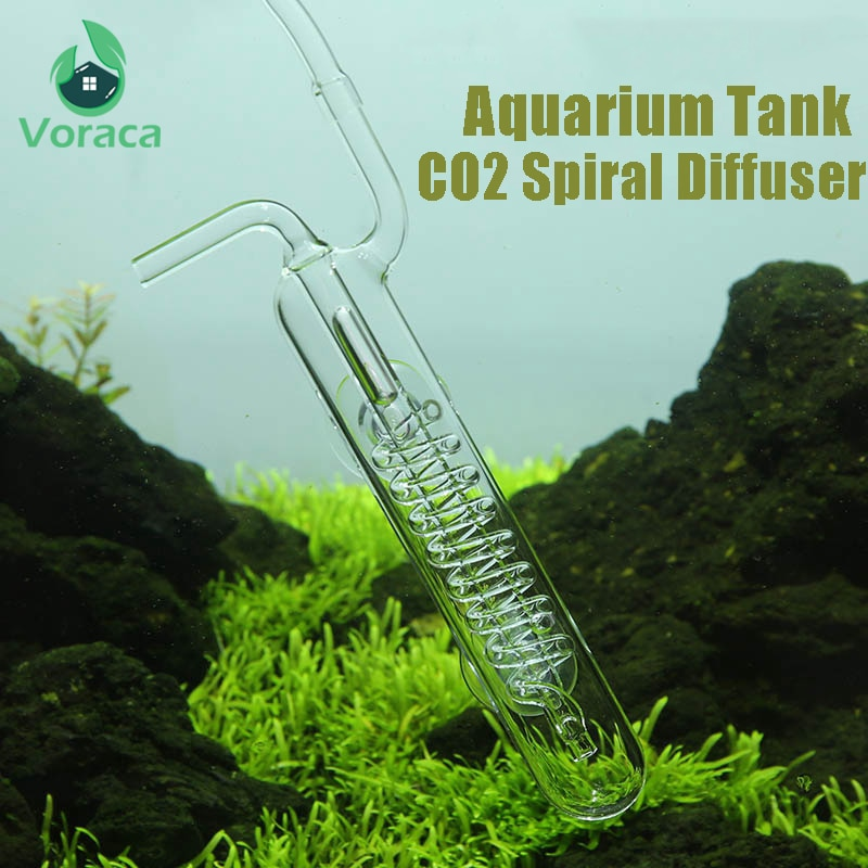 1 unidad de tanque de Acuario, difusor de CO2, espiral de vidrio, contador de burbujas, tanque atomizador, equipos de CO2, regulador para plantado con ventosa