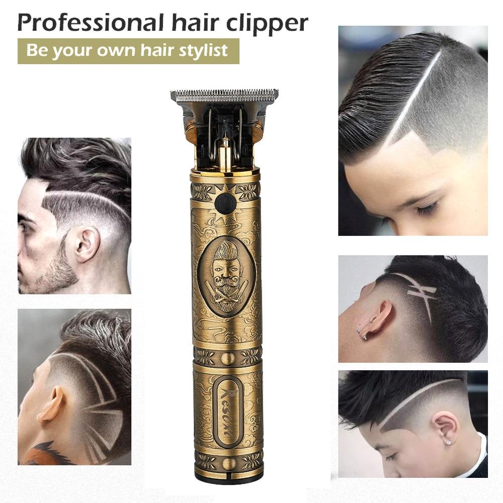 Profession Hair Trimmer Hair Clipper USB Charging Trimmer Haircut Cutter Razor Shaver Beard Trimmer For Men