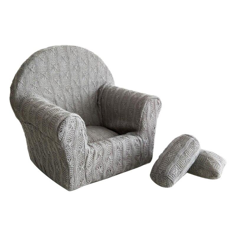 3 Pcs/set Newborn Baby Posing Mini Sofa Arm Chair Pillow Infant Photography Prop R7RB