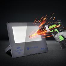 Projecteur Led projecteur 50W 100W 200W 300W plaque de verre Anti-éblouissement nanotechnologie pour usines stades entrepôts bibliothèque