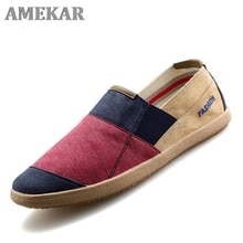 Men Causal Shoes Breathable Wide Slip On Canvas Sneakers Male Linen Shoes Summer Fashion Espadrilles