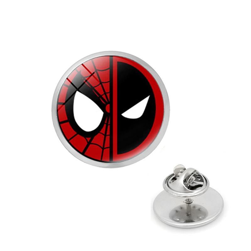 Marvel Pins Deadpool Ghostbusters broches Batman Pins Flash Capitán América broches de Superman para hombres insignia sombrero Tie Tack Broche