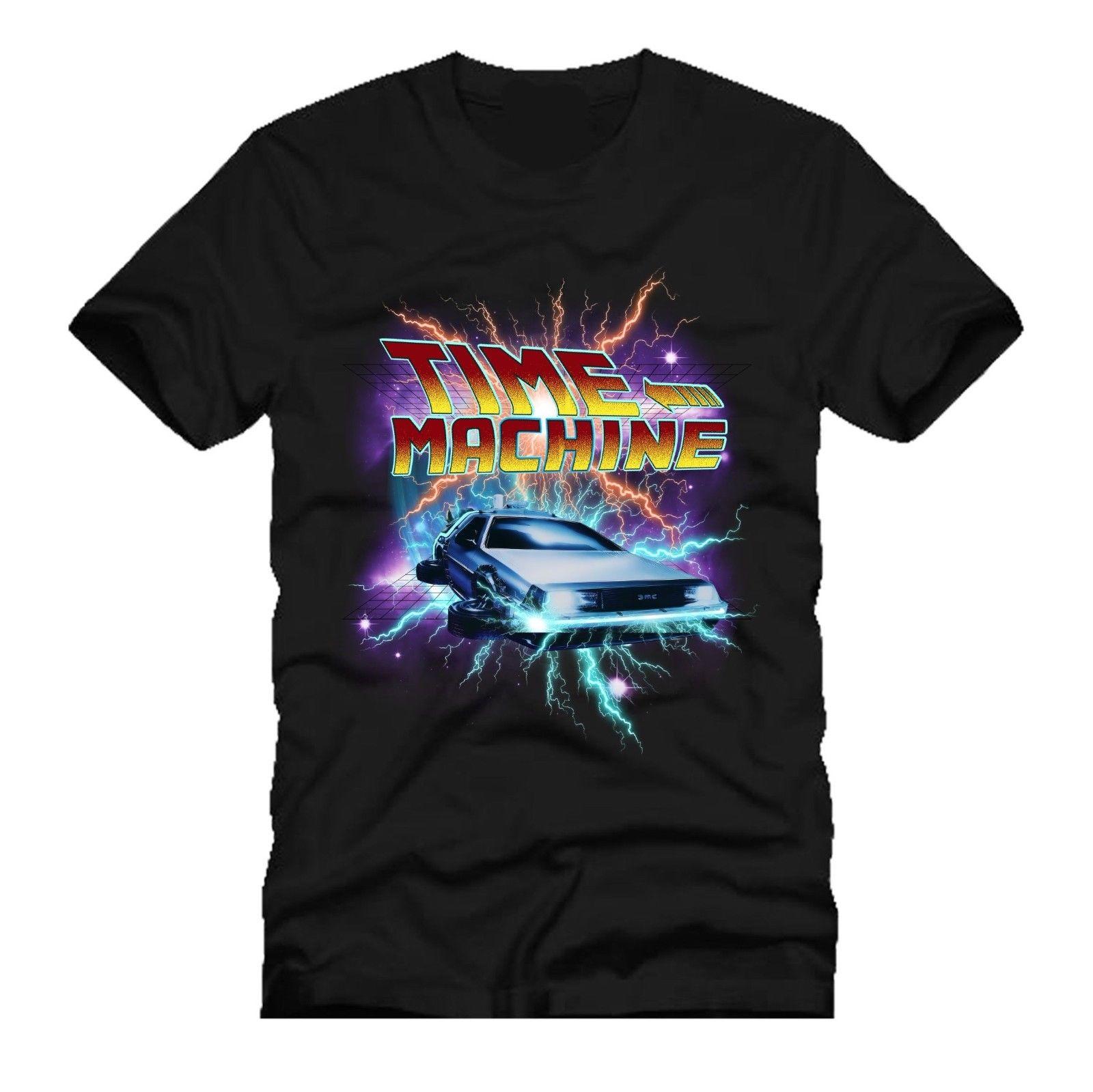 Tiempo máquina deloren coche futuro mashup dtg hombres camiseta nueva 2018 envío gratis moda de verano Cool Casual pride camiseta hombres
