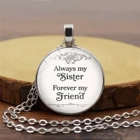 2020 men and women couple friends friendship advice time glass dome pendant necklace retro wind necklace sweater chain
