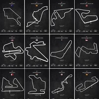 abstract track f1 race car circuit canvas painting modern city posters and prints wall art picture for living room office decor