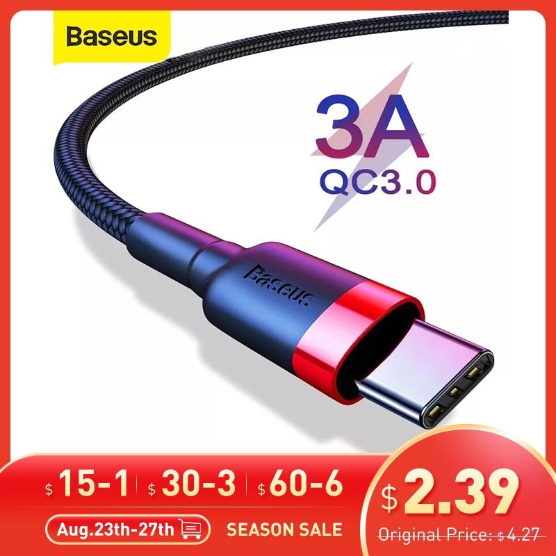 Baseus-Cable USB tipo C para teléfono móvil, Cable de carga 3,0, para...