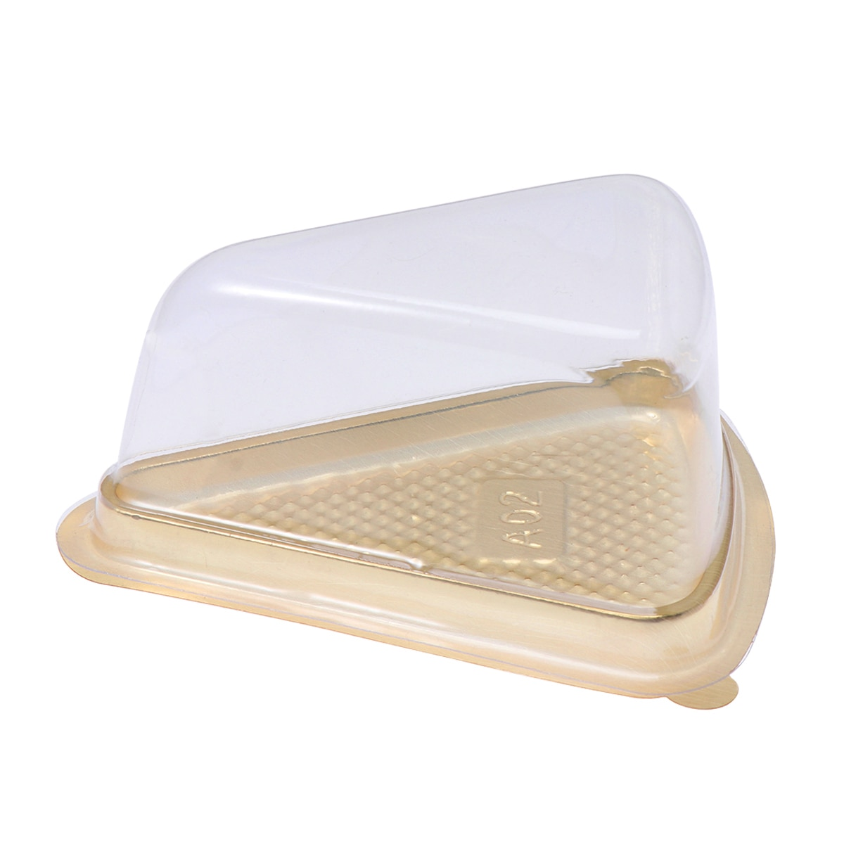 Caixas de empacotamento descartáveis do presente dos recipientes de alimento do cakecup da bandeja do bolo da lua do triângulo de 50 pces