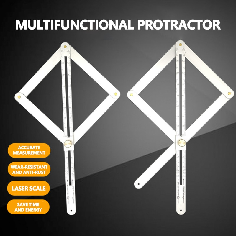 Regla Diagonal, regla de ángulo de medición de precisión, reglas de construcción de madera, herramienta lineal de carpintería para constructores