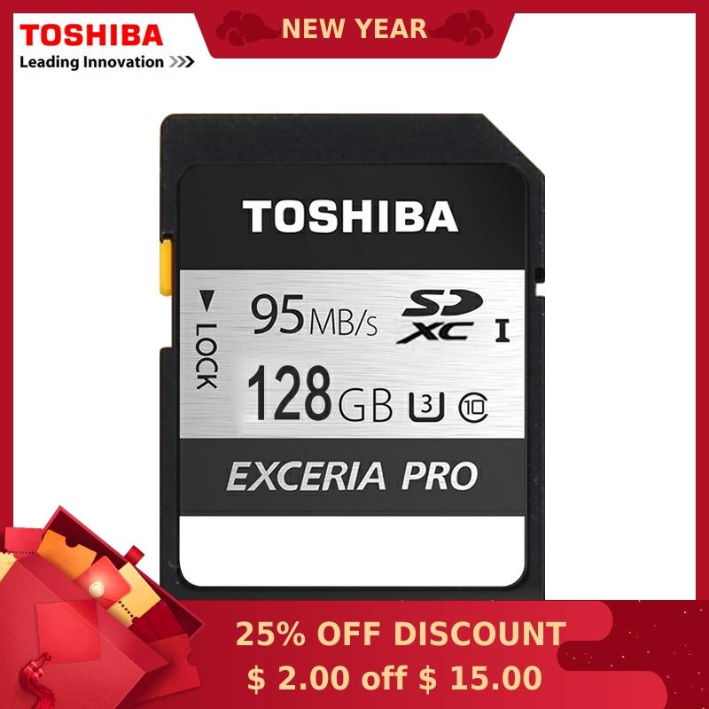 Toshiba Memory Card UHS U3 128GB 95MB/s SDXC SD cards 4K Card SDXC Flash memory EXCERIA PRO Digital SLR Camera Camcorder DV