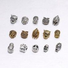 10 teile/beutel Gold Buddha Sparta leopard Lion Heads Spacer Perlen Für Schmuck Finding Herstellung DIY Handgemachte Charme Perlen Armband