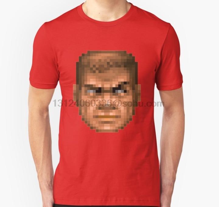 Men tshirt Short sleeve Doom Guy Unisex T Shirt O neck Women t-shirt