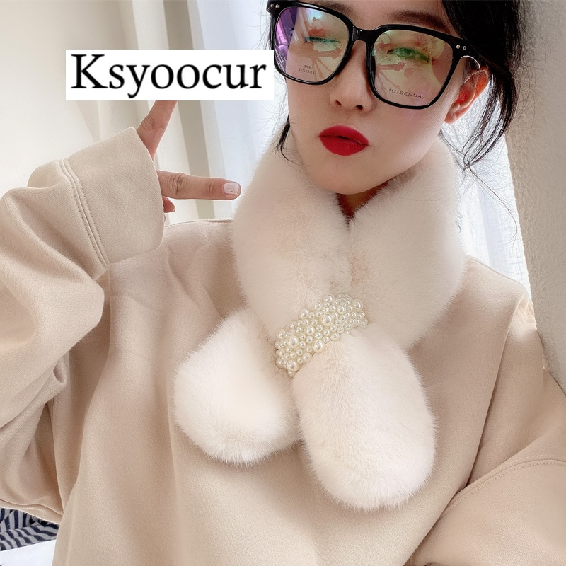 Tamaño 82*11CM 2020 nueva bufanda de felpa Mujer Otoño/Invierno estudiante babero cobertura sólido salvaje/plaid mujer bufandas marca Ksyoocur E05
