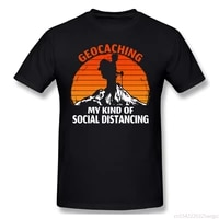 short sleeve tshirt vintage retro geocaching my kind of social distancing t shirt oversized