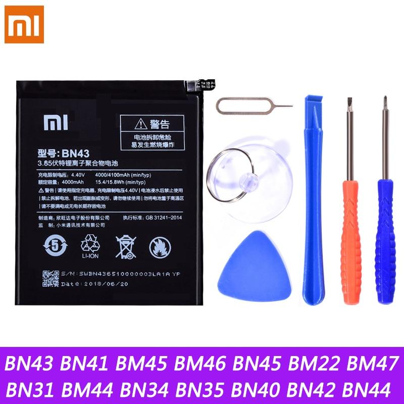 Аккумулятор BN43 BN41 BM45 BM46 BN45 BM22 BM47 BN31 для Xiaomi Redmi Note 5 4 4X 2 3 3S 3X Note2 3 4 4X Xiaomi Mi5 5X Batteria