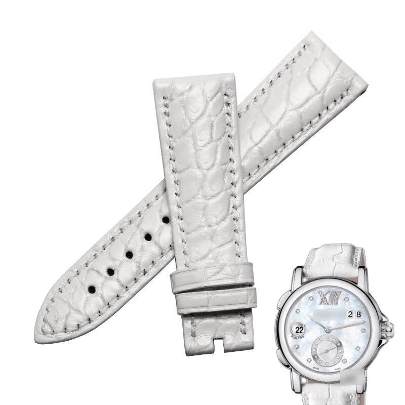 Pulseiras de Relógio para Ulysse Wentula Jacaré Pele Crocodile Grain Leather Strap Ver Band Nardin243-22 –