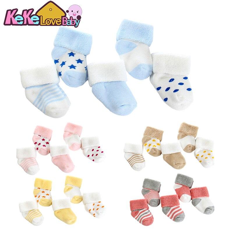 5 pares/lote bebê recém-nascido meias para bebê menina inverno algodão engrossar conforto quente recém nascido do bebê menino da criança meias meia infantil
