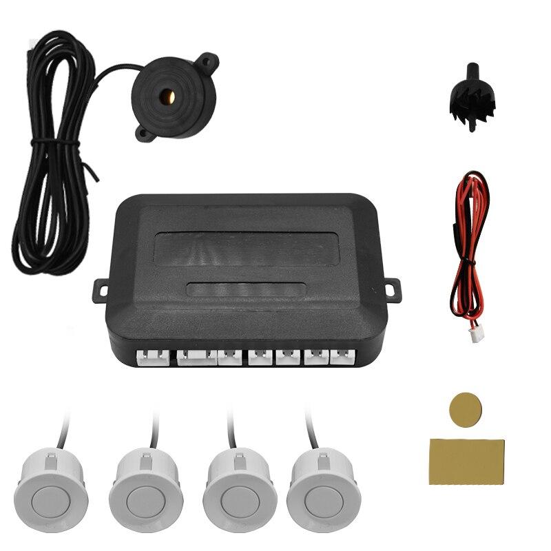 Car 12V 4 pure buzzer reversing radar, Parking Aid radar system, 22mm probe reversing sound health central reversing costochondritis