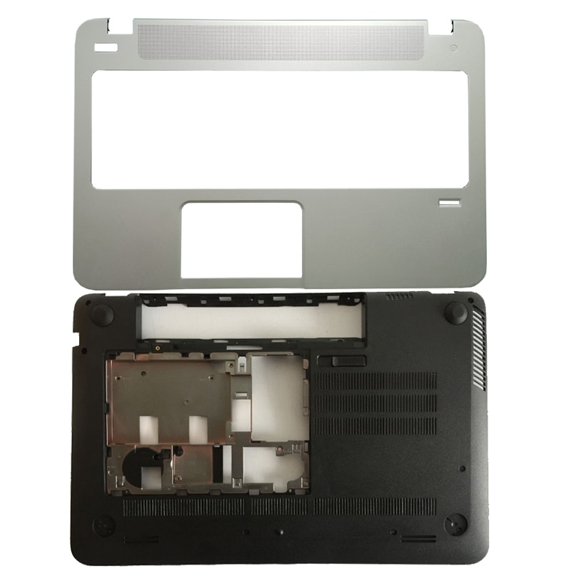 حافظة جديدة ل HP ل Envy 15-J 15-J000 15-J100 المحمول Palmrest غطاء فضي/كمبيوتر محمول أسفل قاعدة غطاء أسود