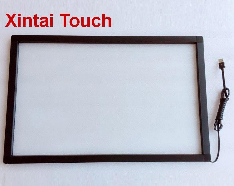 تعزيز! مجموعة تراكب شاشة usb متعددة اللمس مقاس 40 بوصة ، إطار IR يعمل باللمس 10 نقاط ، بدون زجاج ، سهل التركيب